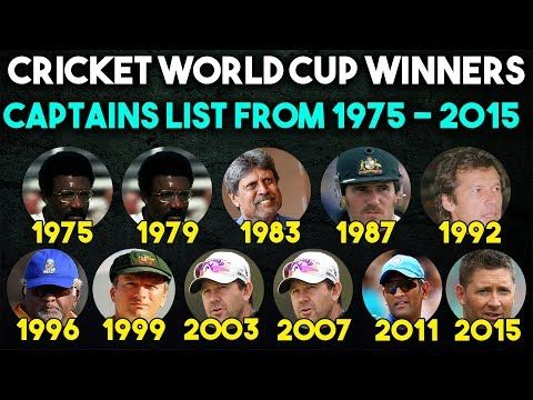 Cricket World Cup Winners Captains List From 1975 2015 Cricket World Cup Winners World Cup Winners Cricket World Cup