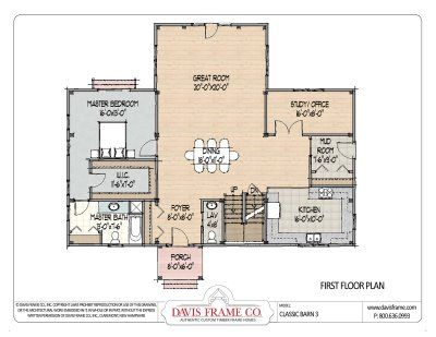 pole barn house floor plans Barn House Plans on Plans By Davis