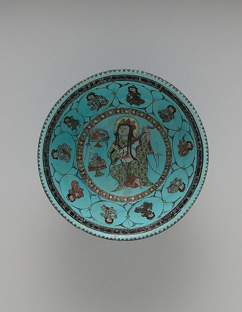 Turquoise Bowl with Lute Player and Audience   The Met