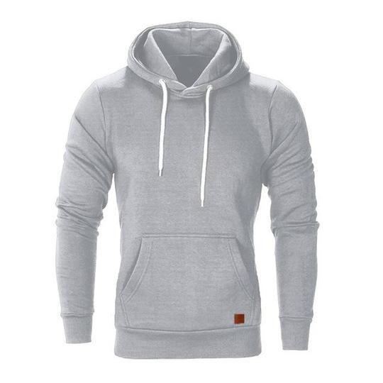 Fashion Plain Sweatshirt Men Sweat Tops Pullover Long Sleeve Round neck Hip-Hop