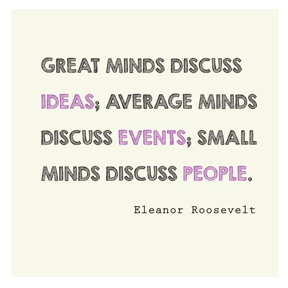 Small Minds Discuss People Quote: Pinterest • The World's Catalog Of Ideas