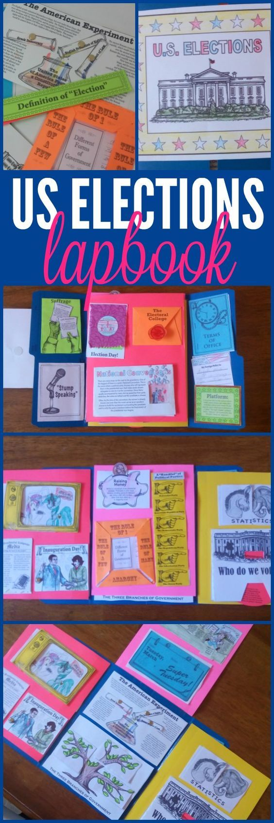 U.S. Elections Lapbook Lap-Pak from Home School in the ...