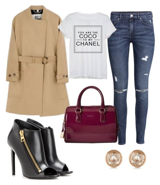 """""""Untitled #60"""" by kristibejko ❤ liked on Polyvore featuring Tom Ford, H&M, Burberry, Michael Kors, Furla and Chanel"""