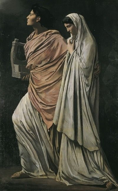 Anselm Feuerbach. Orpheus and Eurydice. 1869. Oil on canvas. Upper Belvedere. Vienna, Austria.