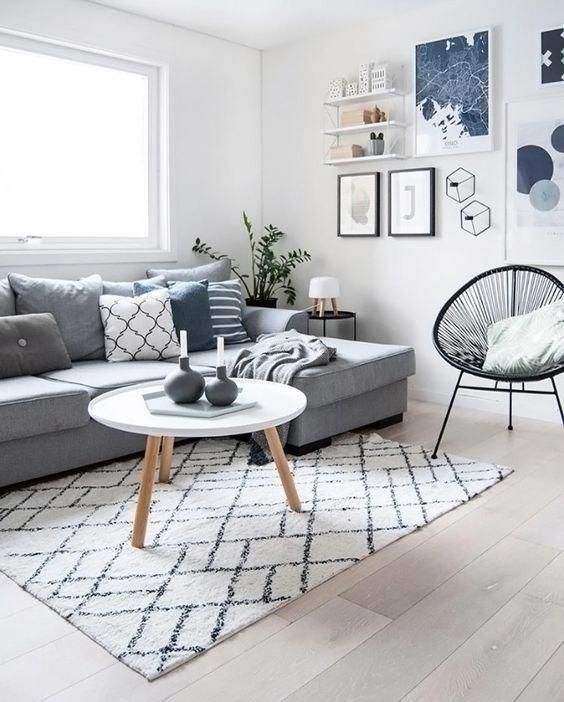 Scandinavian Style Room With Blue Pops Of Color Scandinavian Design Li Scandinavian Design Living Room Living Room Scandinavian Interior Design Living Room