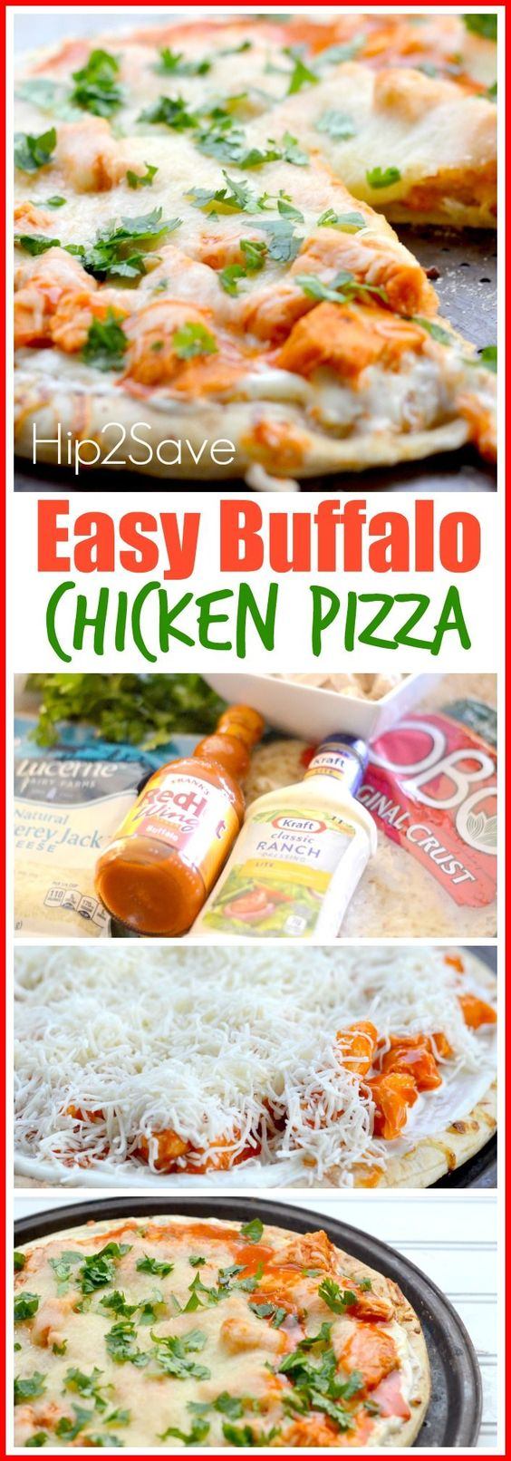 Buffalo Chicken Pizza Recipe. Looking for something fun to cook with the kids, then this Buffalo Chicken Pizza is a delight to eat and to make. To find all the ingredients you and the kids need, click through the pin. Enjoy!