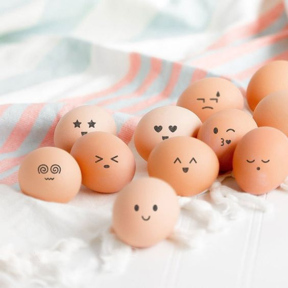 cute face stamps for egg stamping easter eggs decoration with image 0