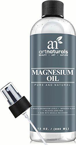Art Naturals Huile de Magnésium 355ml – Déodorant Naturel Idéal – Réduit Migraines | Soulage Courbatures et Articulations Douloureuses: Un…