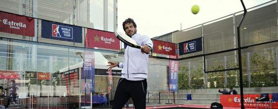 Feliciano Lopez Jugando al Padel