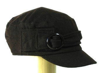 Womens Military cadet hat for women with short visor and a round buckle --- http://www.amazon.com/ACDR2040-Military-cadet-women-buckle/dp/B0045V4X8A/ref=sr_1_4/?tag=thebost0e-20