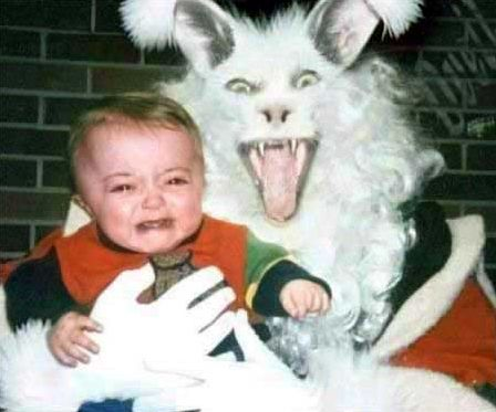 just the Easter Bunny...with fangs
