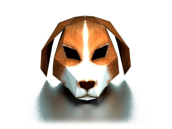 DIY 3D Dog paper mask template on Pinterest | Dog Mask, Templates ...