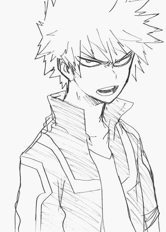 Katsuki Bakugou My Hero Academia Anime Character Drawing Anime Sketch Character Drawing