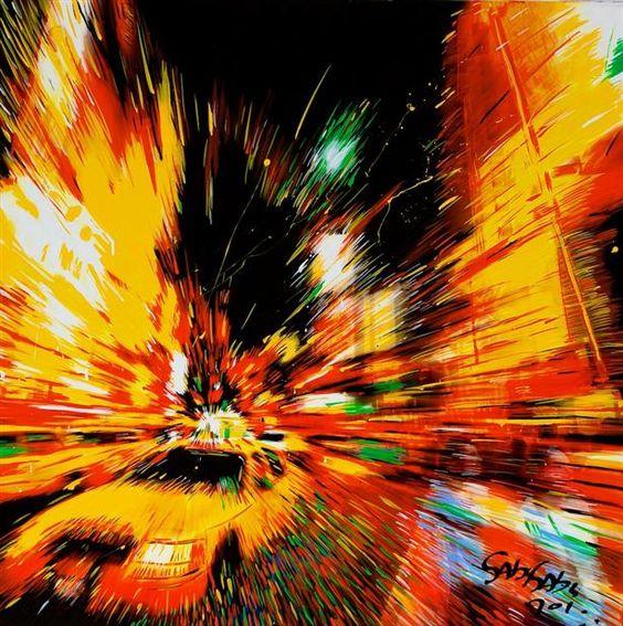 Time Square by night http://www.gabygabyart.com/