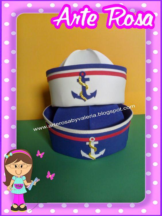 Arte Rosa By Valéria Andrade: Chapéu de Marinheiro em E.V.A
