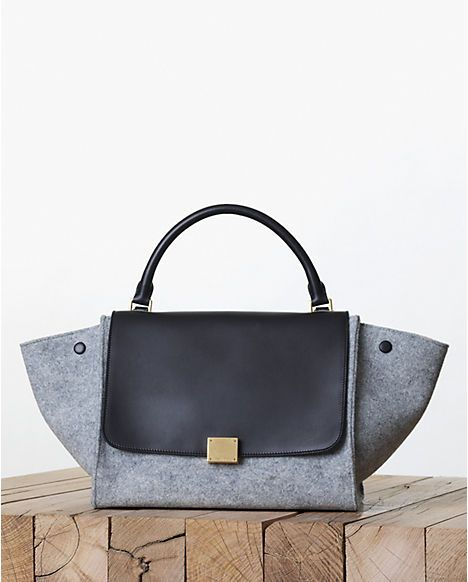 celine bags online shopping - Celine Grey Felt Trapeze Bag - Fall 2013 | Bag lady | Pinterest ...