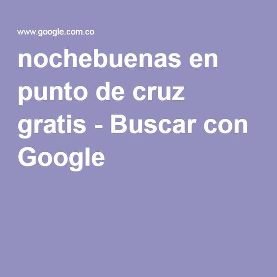 nochebuenas en punto de cruz gratis - Buscar con Google
