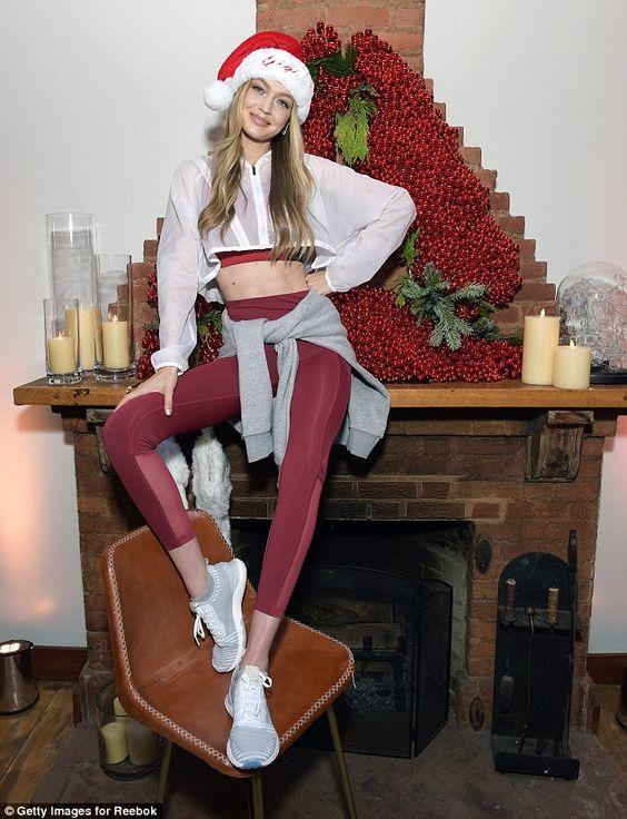 Rock ruby leggings like Gigi in Reebok #DailyMail Click to buy now