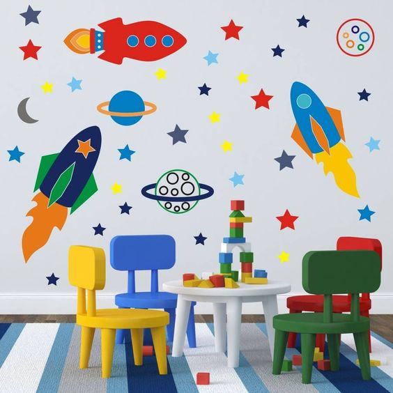 space rockets wall stickers by mirrorin | notonthehighstreet.com
