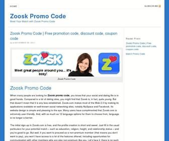 zoosk online dating promo code Save with these tested elite singles voucher codes valid in may 2018 get the latest elite safe and secure dating at elitesinglesie online ends 01-08-18.