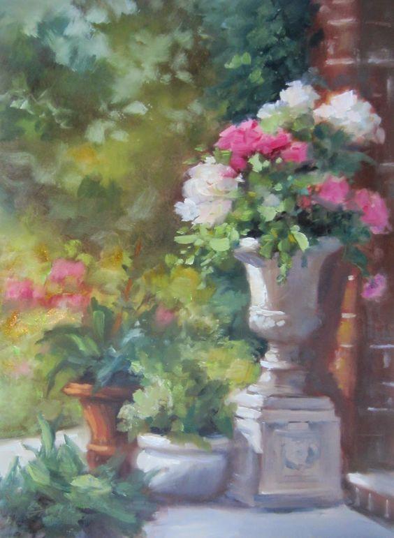 Original Oil Painitng by Pat Fiorello - available on http://patfiorello.blogspot.com/2014/06/garden-dreams-and-video.html