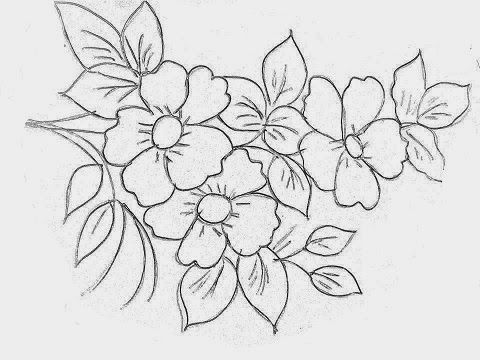 Riscos Desenhos Para Pintura Em Tecido Flores Padrões Para