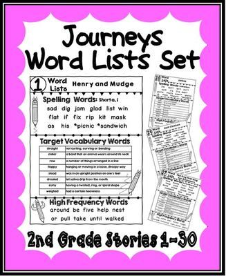 HM Journeys – Word Lists for Stories 1-30 (Second Grade) from A Teacher in Paradise on TeachersNotebook.com -  (64 pages)  - Enclosed you will find the word lists for all the stories in second grade; lessons 1-30. They are perfect for sending home when you start a new story for a quick reference.