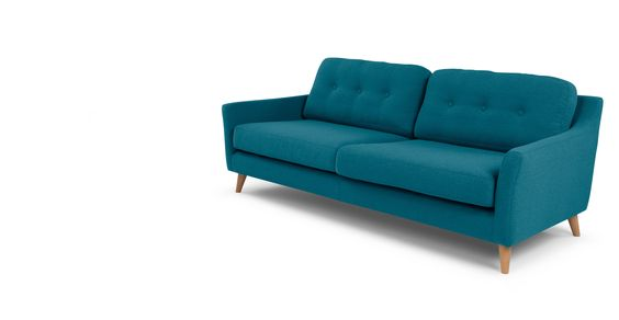 Rufus 3-Sitzer-Sofa, Himmelblau | made.com