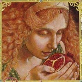 Persephone with pomegranate