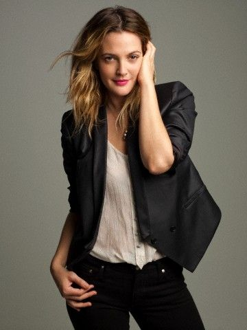 Drew Barrymore-I'm pretty sure she can pull off any hair color, but I like it…