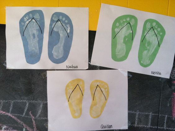 Flip flop craft i did with my boys we first dipped our for Flip flops for crafts