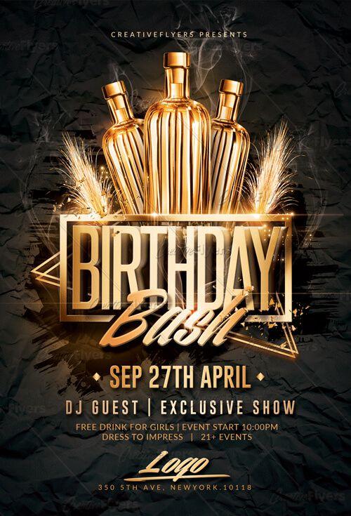 Birthday Bash Flyer Psd Template Birthday Flyer Birthday Flyer Template Birthday Bash Flyer