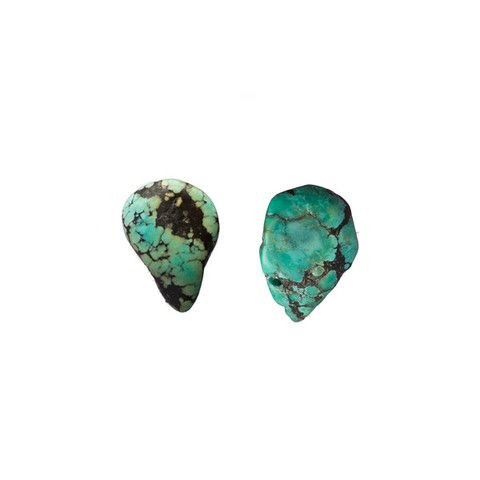 Turquoise Teardrop Earrings - so raw and easy, i'm in love.