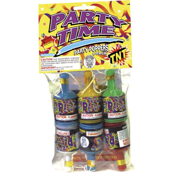 tnt fireworks | PARTY TIME PARTY POPPERS