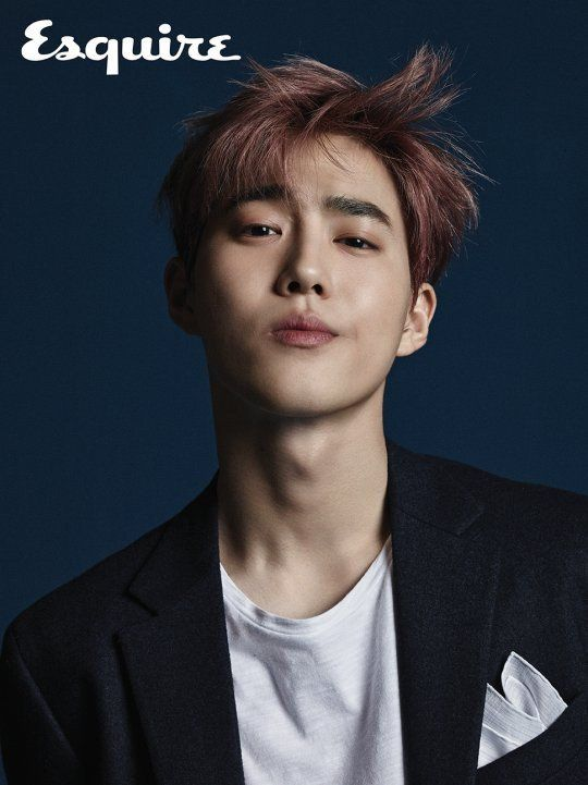 EXO's Suho is the charismatic cover model for September issue of 'Esquire' | allkpop.com