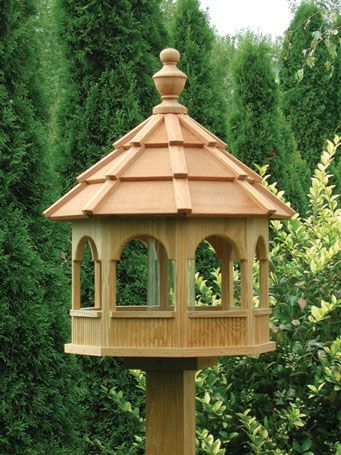 Wooden Bird Feeders | Wooden Lawn Furniture - Bird Feeders | Yutzy's Farm Market