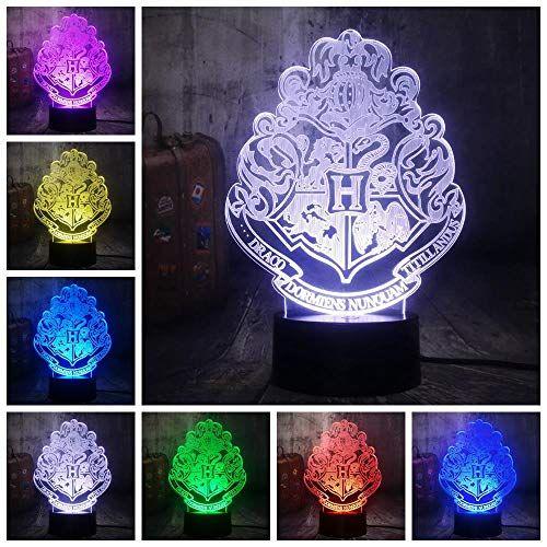 Hldwmx 3d Lampe Illusion Optique Led Sommeil Leger Fille Veilleuse Optiques Illusions Lampe De Nuit 7 Couleurs Tacti Lampes De Nuit Lampe De Chevet Deco Enfant
