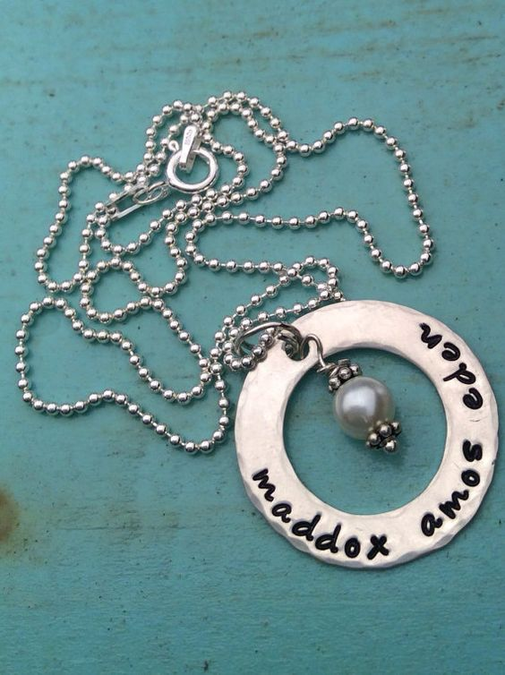 Personalized Necklace Hand Stamped Jewelry  by TBSoulSisters, $37.00