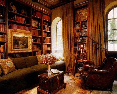 interior design orange county - Mediterranean homes, Libraries and Wood shelves on Pinterest