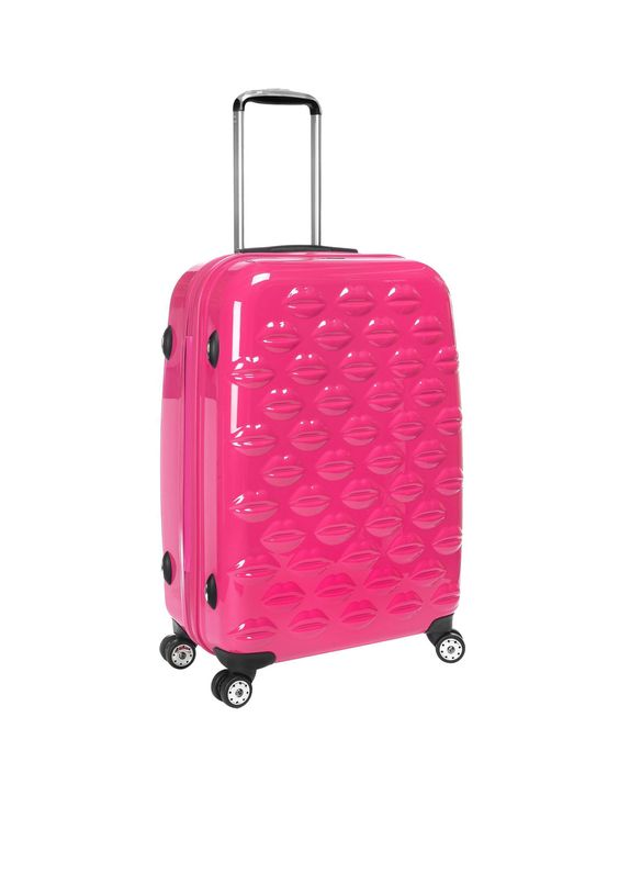 Lulu Guinness Hot Pink Lips Suit Case | Cocosa | Luxe Living ...