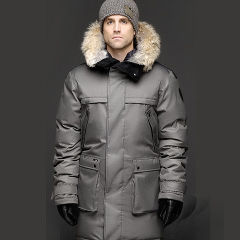 Nobis Grey Yatesy Men's Long Parka | Men's hot stuff | Pinterest