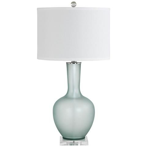 Makea Frosted Green Glass Vase Table Lamp 9m136 Lamps Plus Glass Table Lamp Vase Table Lamp Blue Table Lamp