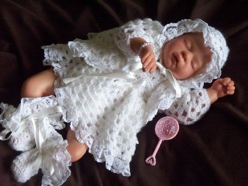 For baby funeral size 1-3lb $   Crochet Premie Baby   Pinterest   Dress set Sweet and Babies