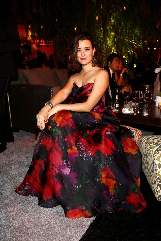 Cote během after party Golden Globes Netflix, 2015