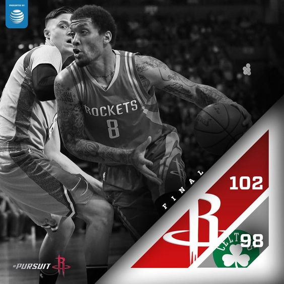 Rockets win in Boston! Harden 32pts, Howard 12pts/12reb, Beasley 18pts/8reb, Ariza 10pts, Beverley 8pts/12reb. 3/11/2016