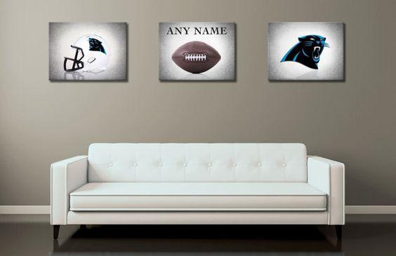 Personalized set of 3 Carolina Panthers photo print,boys room decor,kids room,Carolina Panthers,football decor,Carolina Panthers room decor