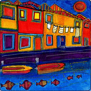 Venezia, Encaustic Painting, Dora Ficher