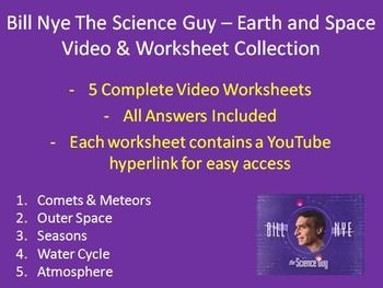 here is a collection of five bill nye the science guy earth and space video worksheets includes. Black Bedroom Furniture Sets. Home Design Ideas