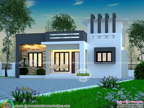 Beautiful House Under 1000 Square Feet In 2020 Kerala House Design Single Floor House Design House Front Design