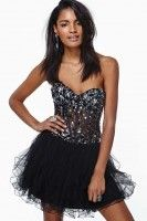 Glamourous Dark Jewel Sequin Party Dress